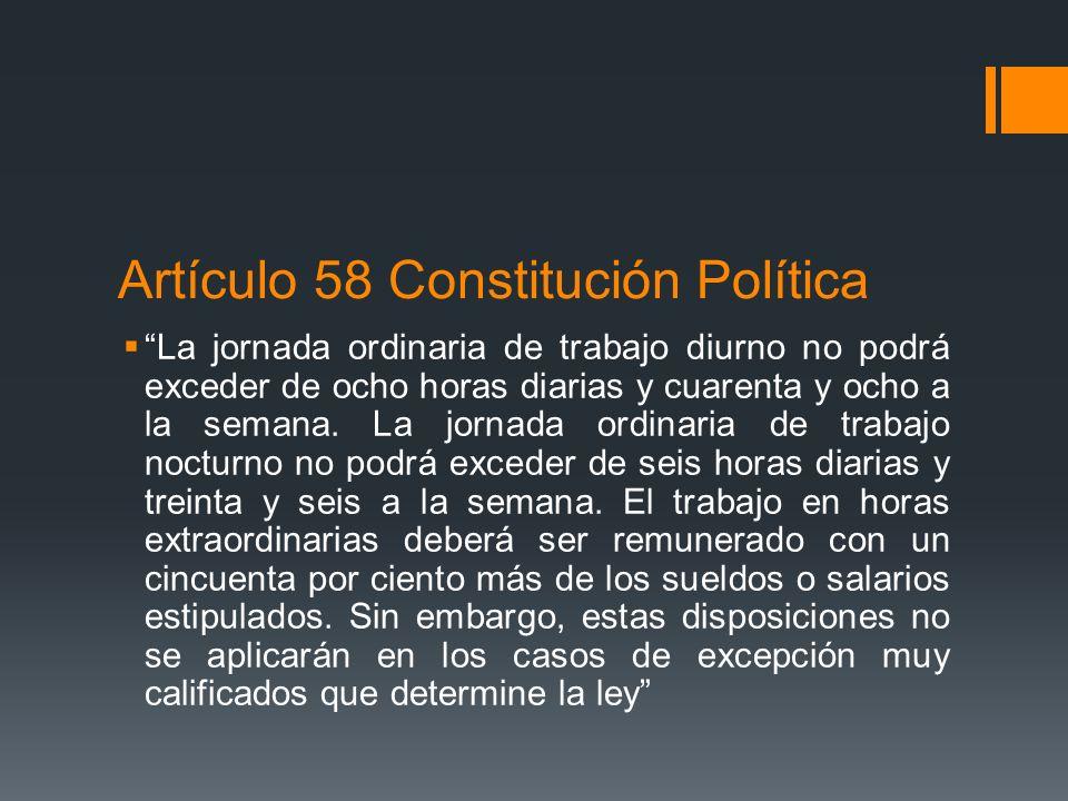 Artículo 58 Constitución Política
