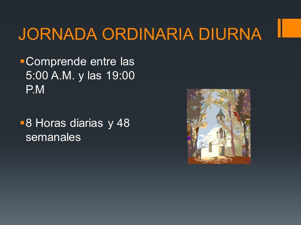 JORNADA ORDINARIA DIURNA