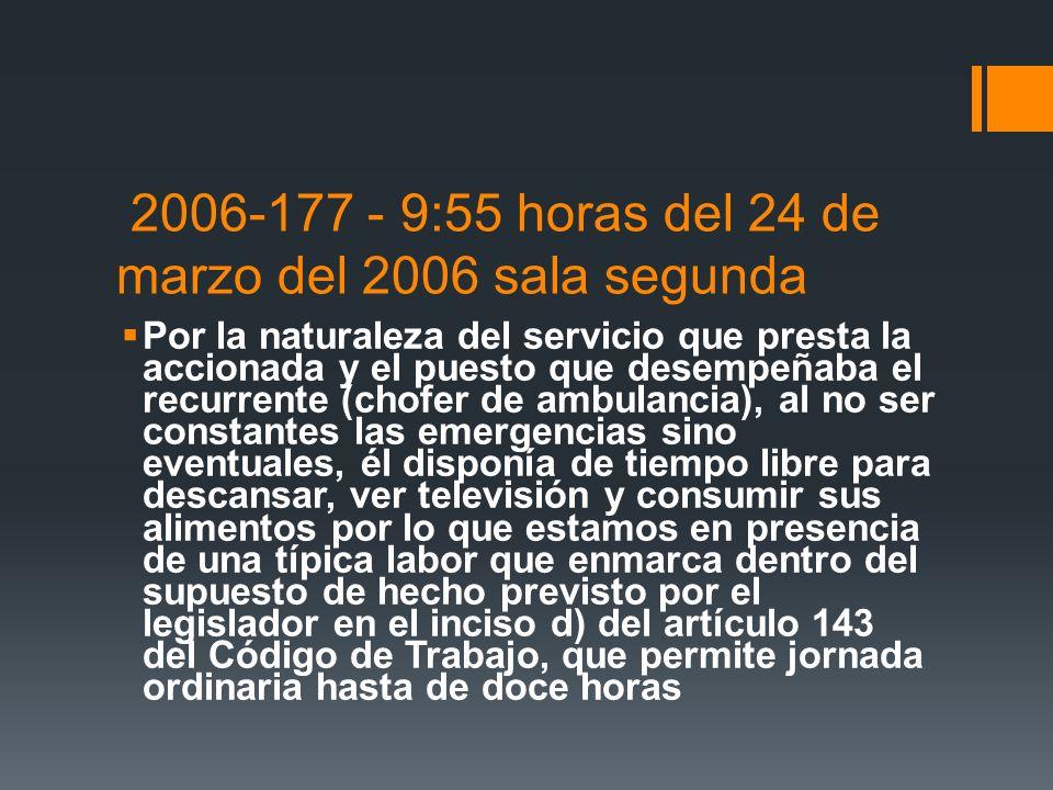 2006-177 - 9:55 horas del 24 de marzo del 2006 sala segunda
