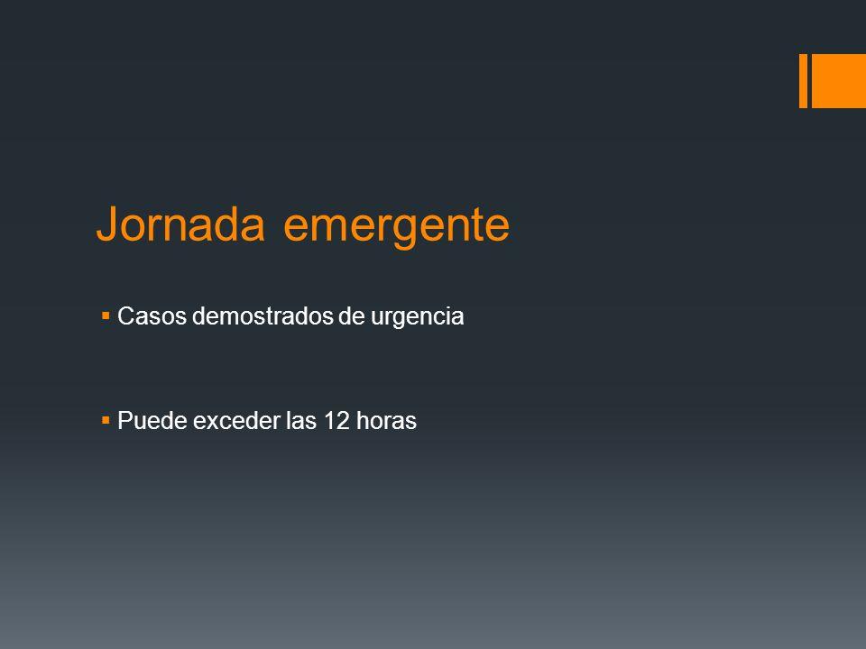 Jornada emergente Casos demostrados de urgencia