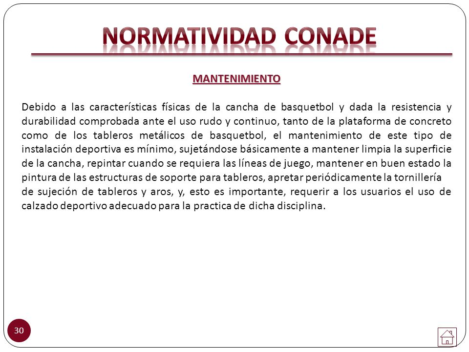 NORMATIVIDAD CONADE MANTENIMIENTO