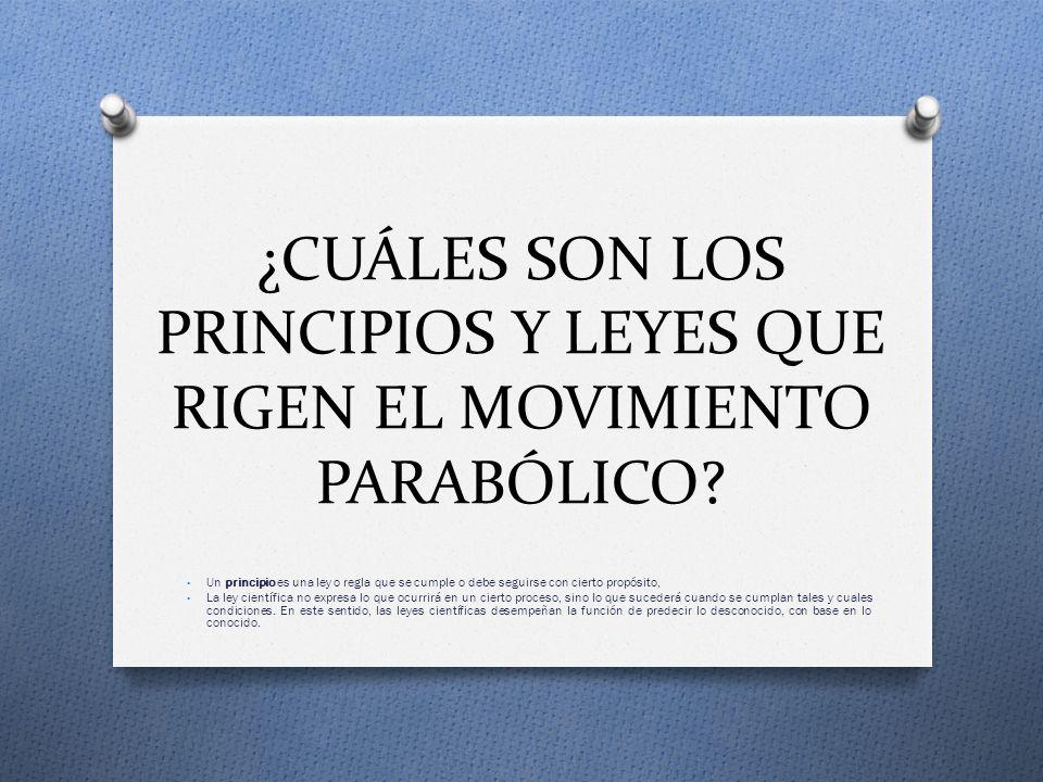 ¿CUÁLES SON LOS PRINCIPIOS Y LEYES QUE RIGEN EL MOVIMIENTO PARABÓLICO