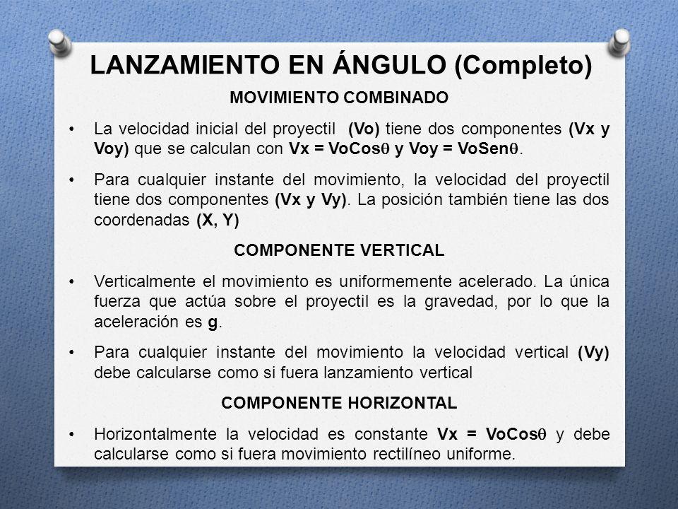 LANZAMIENTO EN ÁNGULO (Completo) COMPONENTE HORIZONTAL