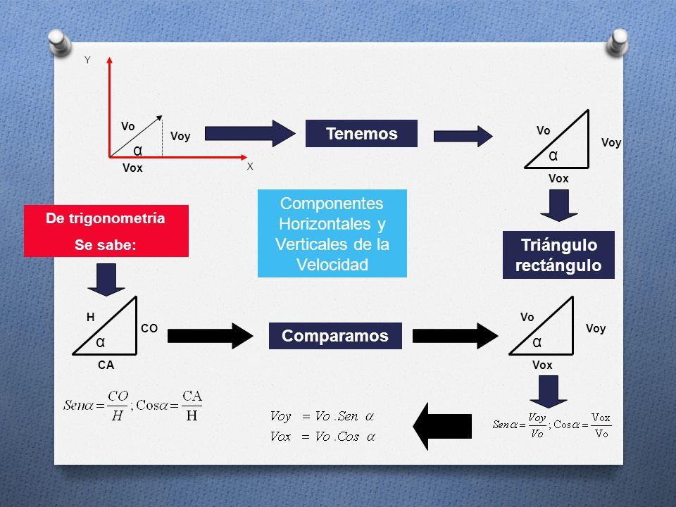 Componentes Horizontales y Verticales de la Velocidad
