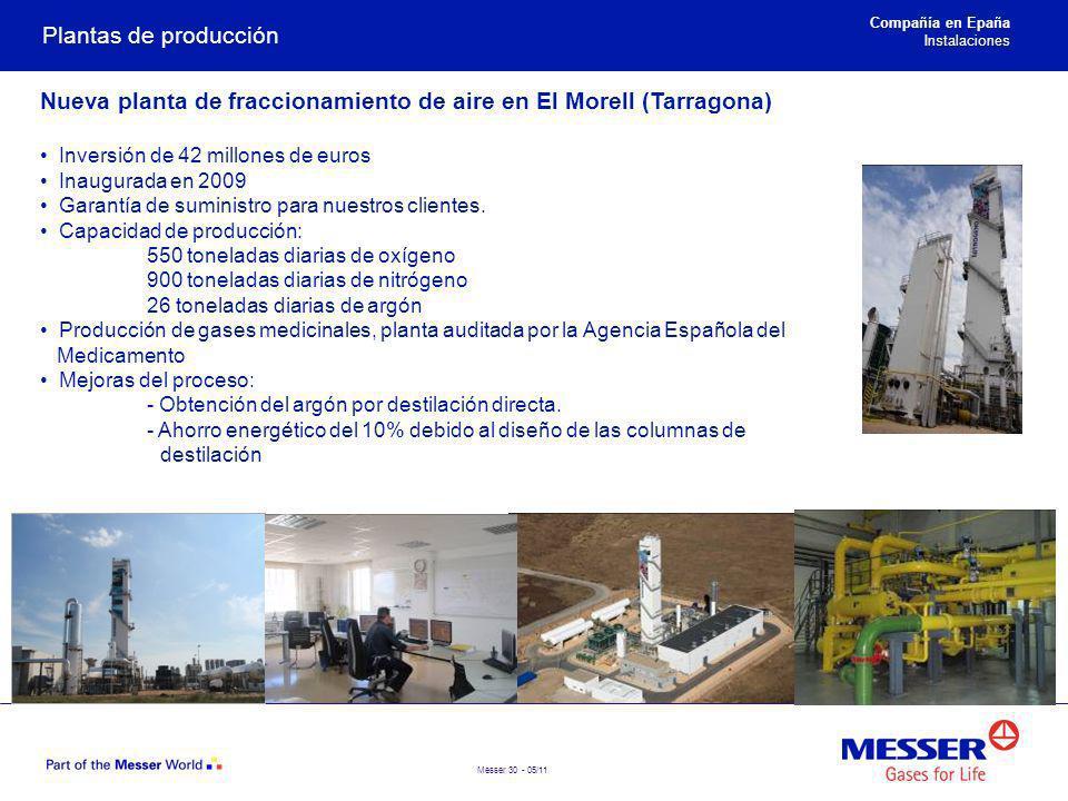 Nueva planta de fraccionamiento de aire en El Morell (Tarragona)