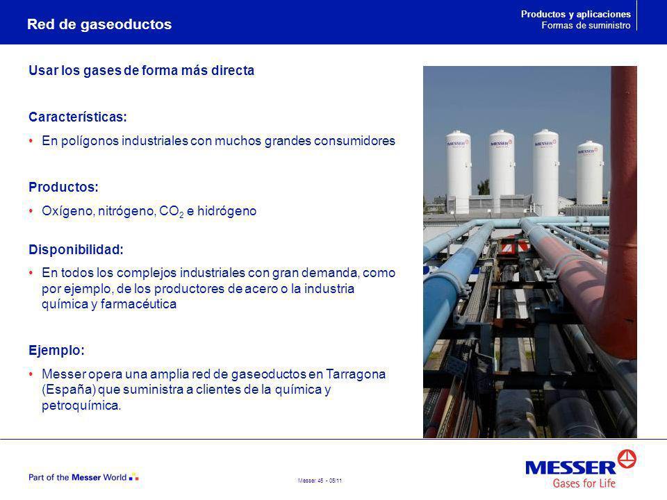 Red de gaseoductos Usar los gases de forma más directa