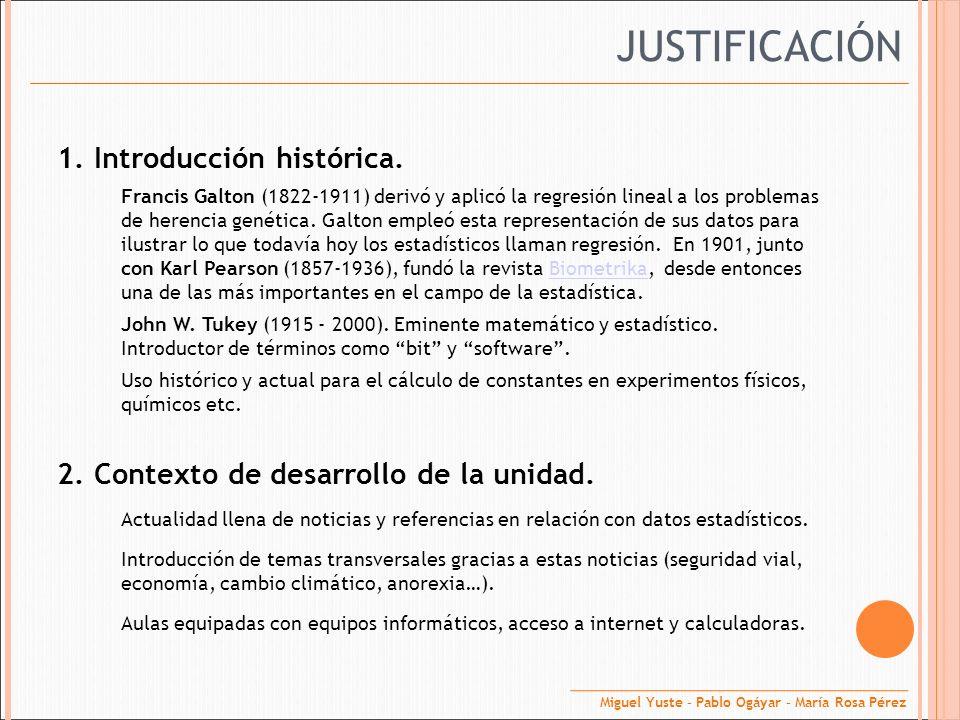 JUSTIFICACIÓN 1. Introducción histórica.