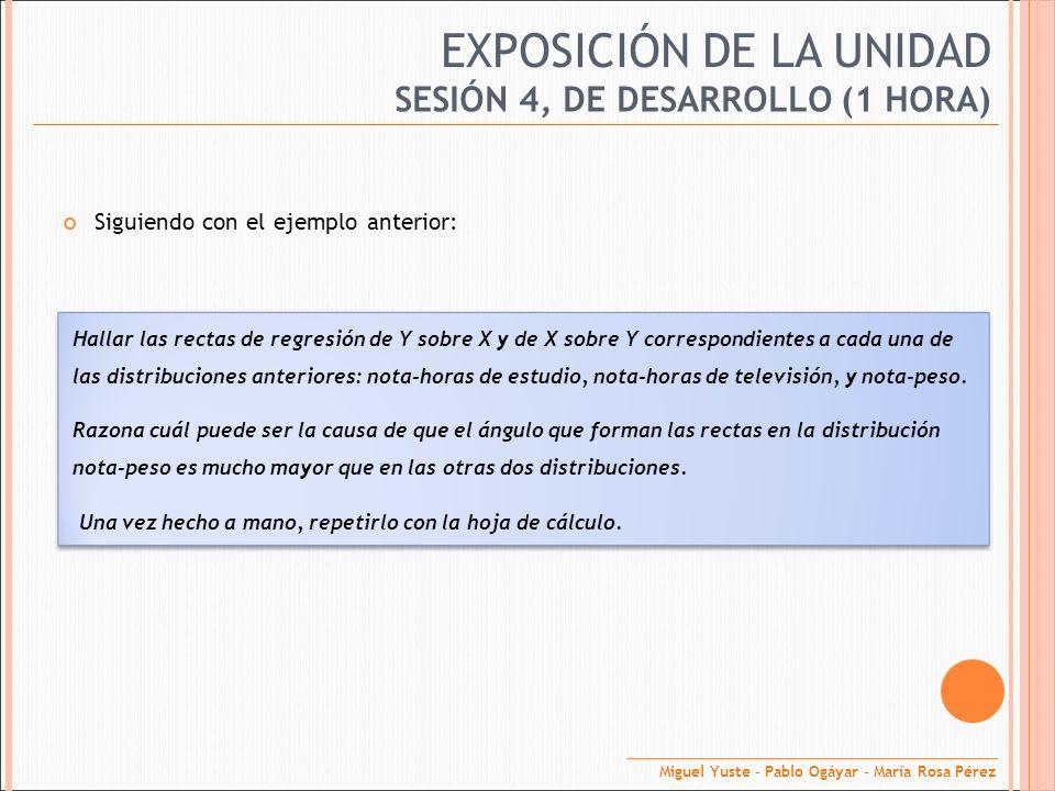 EXPOSICIÓN DE LA UNIDAD