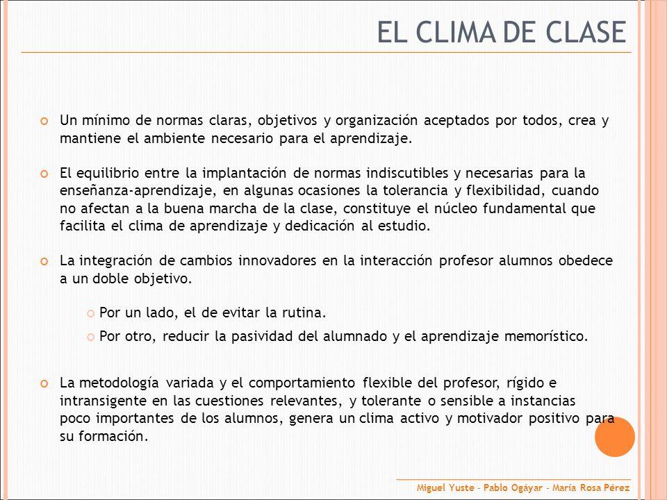 EL CLIMA DE CLASE