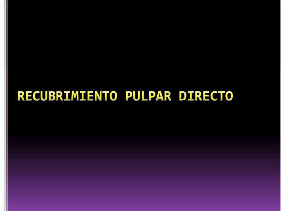 RECUBRIMIENTO PULPAR DIRECTO