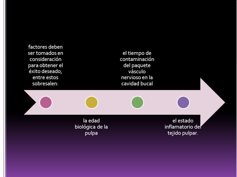 la edad biológica de la pulpa