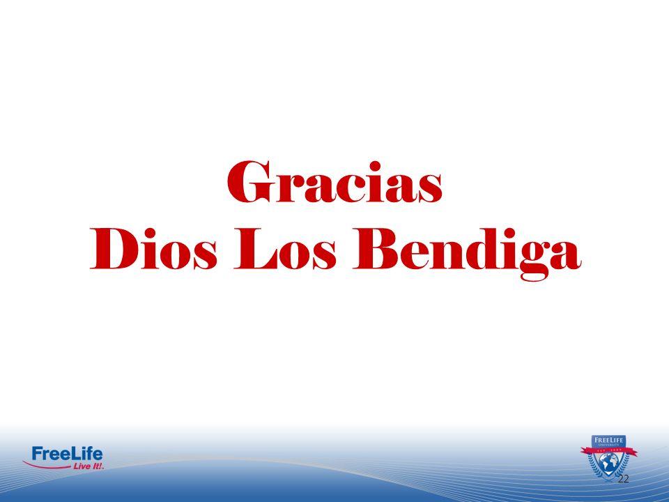 Gracias Dios Los Bendiga