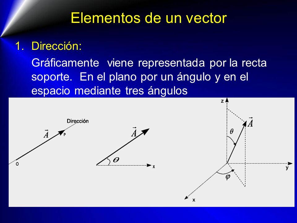 Elementos de un vector Dirección: