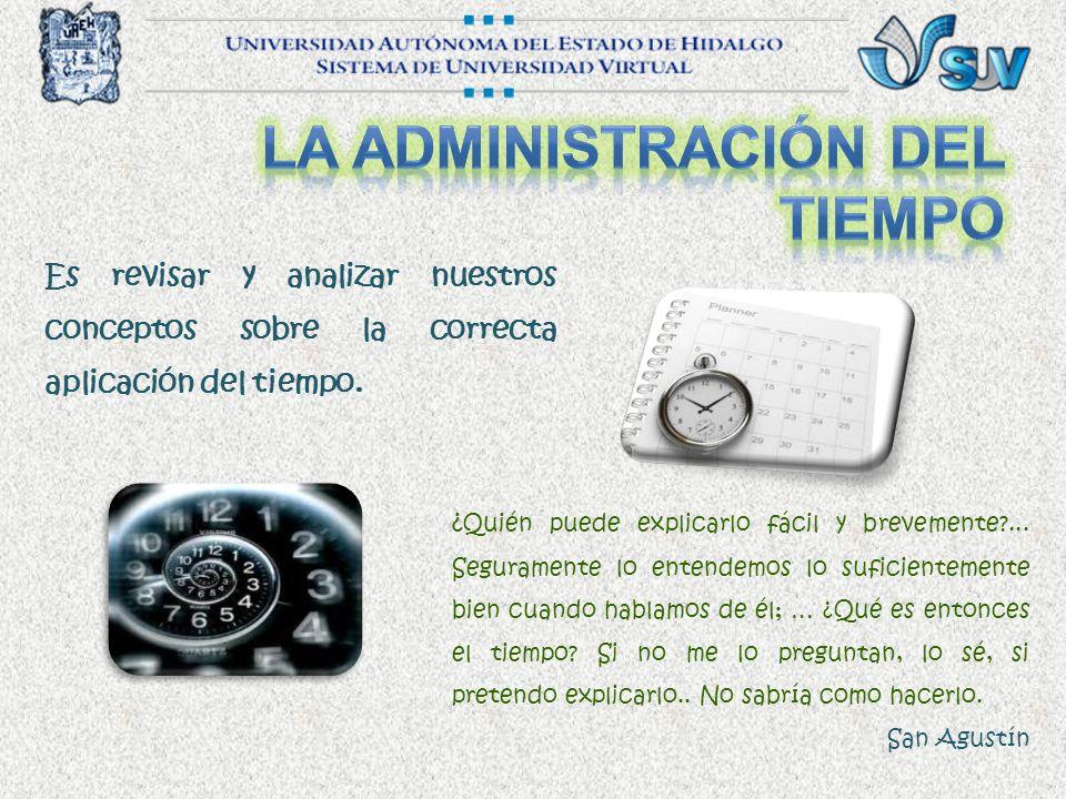 La administración del tiempo