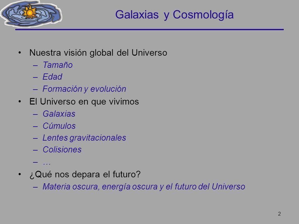 Galaxias y Cosmología Nuestra visión global del Universo