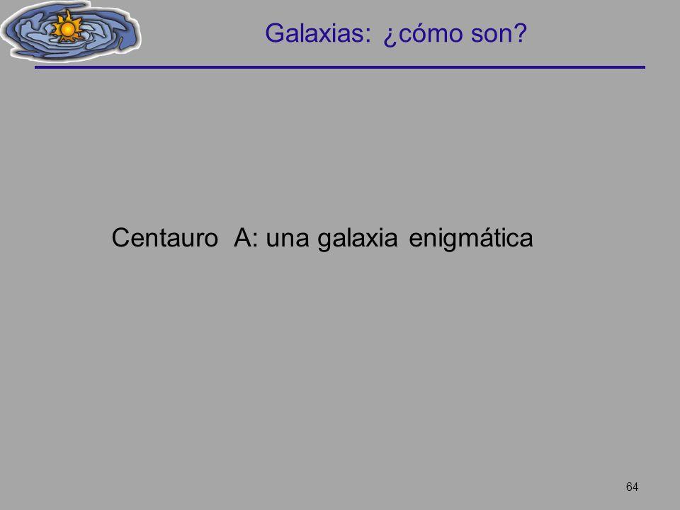 Galaxias: ¿cómo son Centauro A: una galaxia enigmática