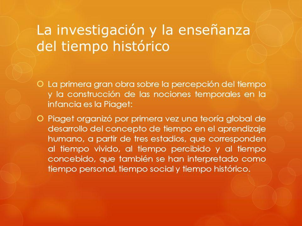 La investigación y la enseñanza del tiempo histórico