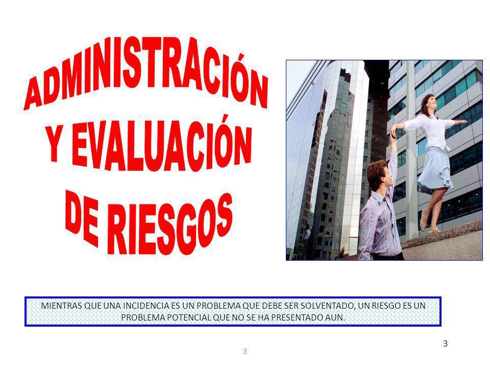 ADMINISTRACIÓN Y EVALUACIÓN DE RIESGOS