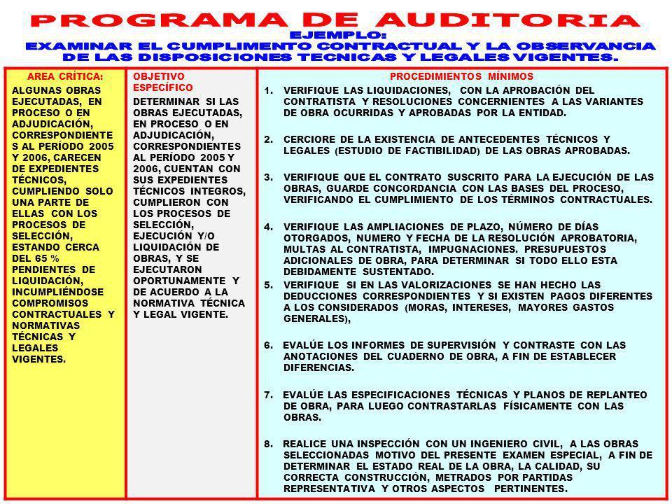 39 PROGRAMA DE AUDITORIA Docente Dr. Miguel Aguilar Serrano