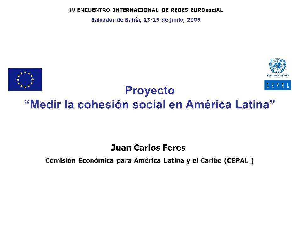 Proyecto Medir la cohesión social en América Latina