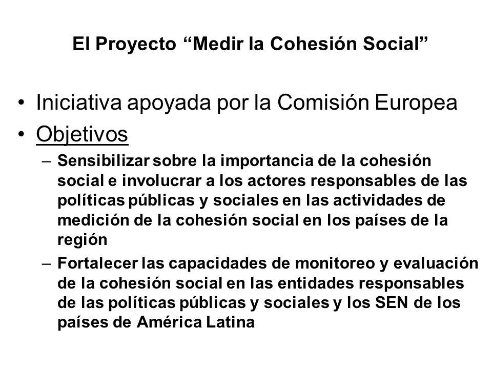 El Proyecto Medir la Cohesión Social