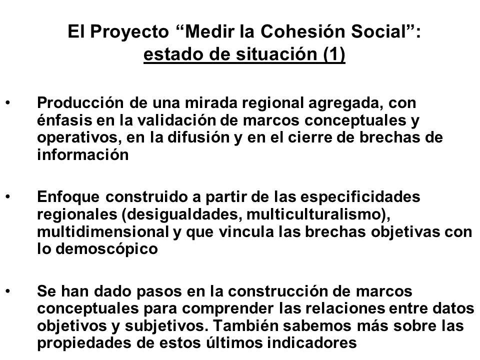 El Proyecto Medir la Cohesión Social : estado de situación (1)