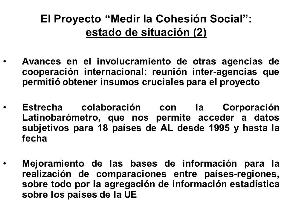 El Proyecto Medir la Cohesión Social : estado de situación (2)