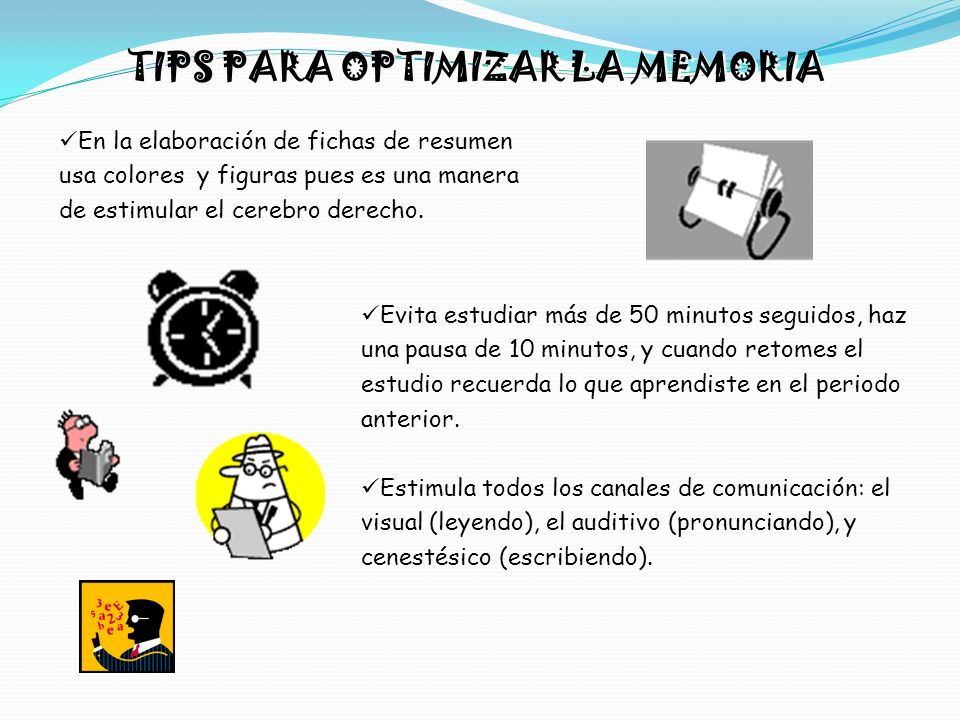 TIPS PARA OPTIMIZAR LA MEMORIA