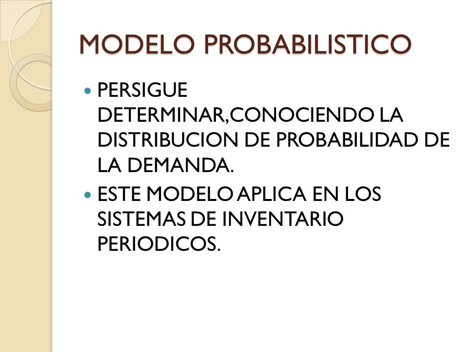 MODELO PROBABILISTICO