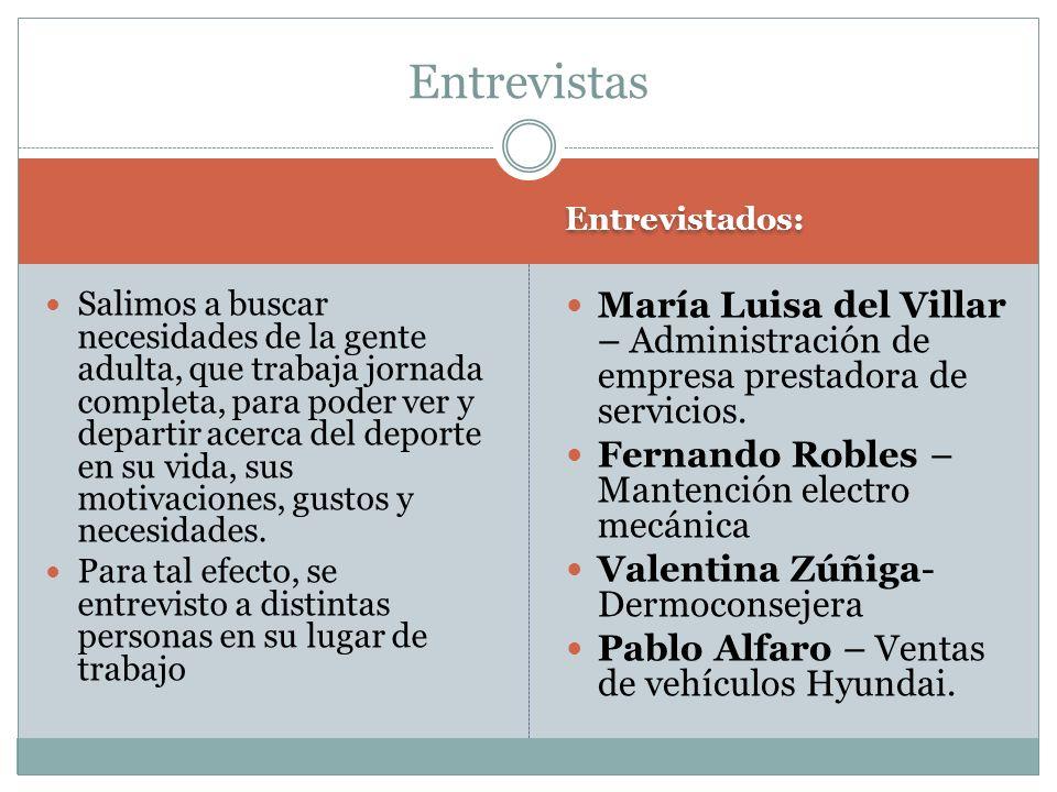 Entrevistas Entrevistados: