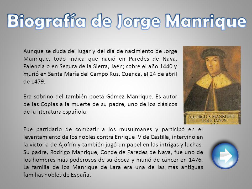 Biografía de Jorge Manrique