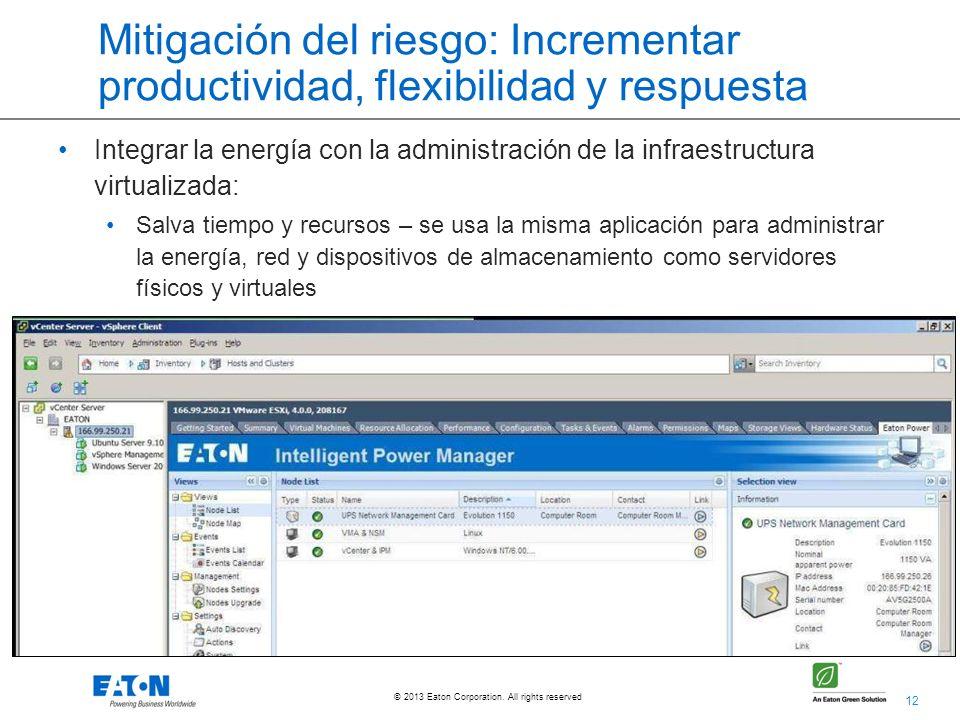 Mitigación del riesgo: Incrementar productividad, flexibilidad y respuesta