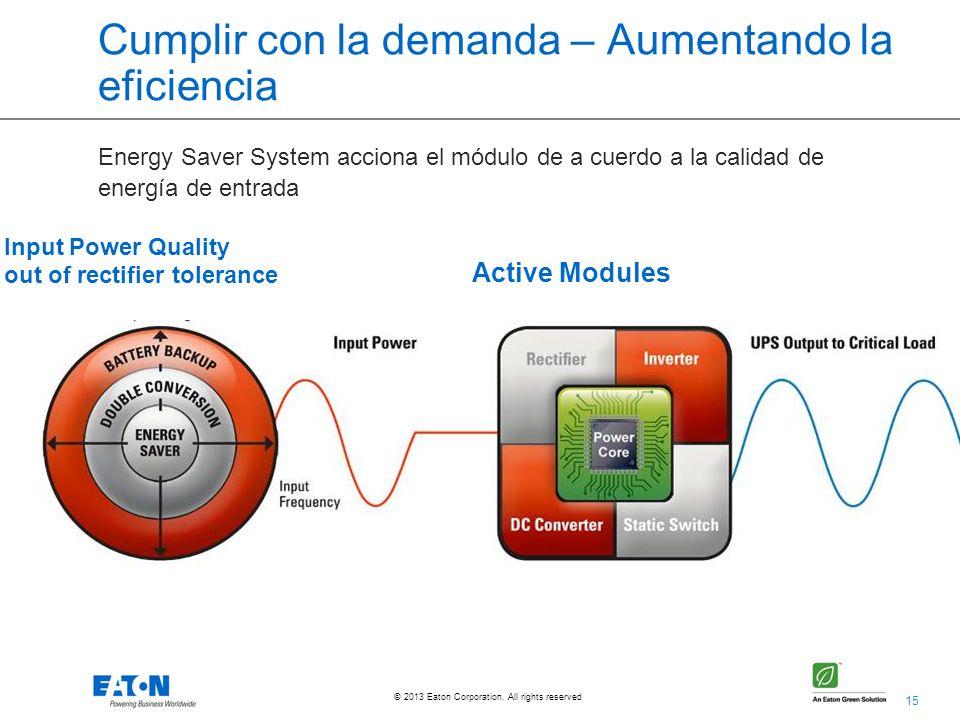 Cumplir con la demanda – Aumentando la eficiencia