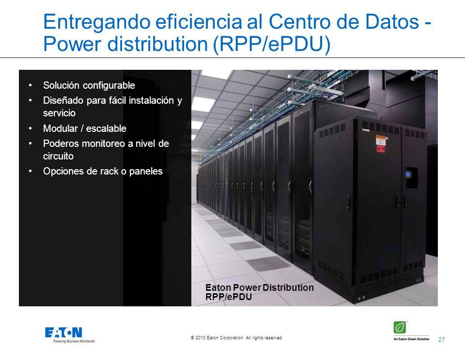Entregando eficiencia al Centro de Datos - Power distribution (RPP/ePDU)