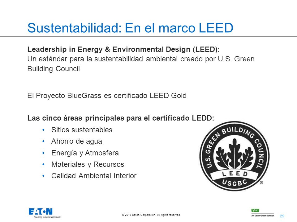 Sustentabilidad: En el marco LEED