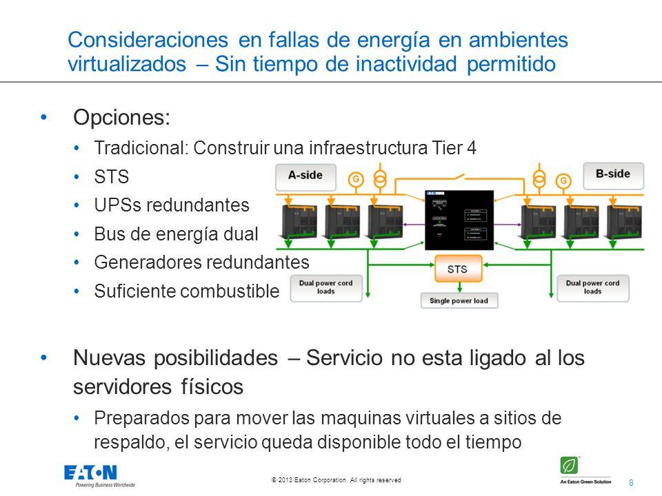 Consideraciones en fallas de energía en ambientes virtualizados – Sin tiempo de inactividad permitido