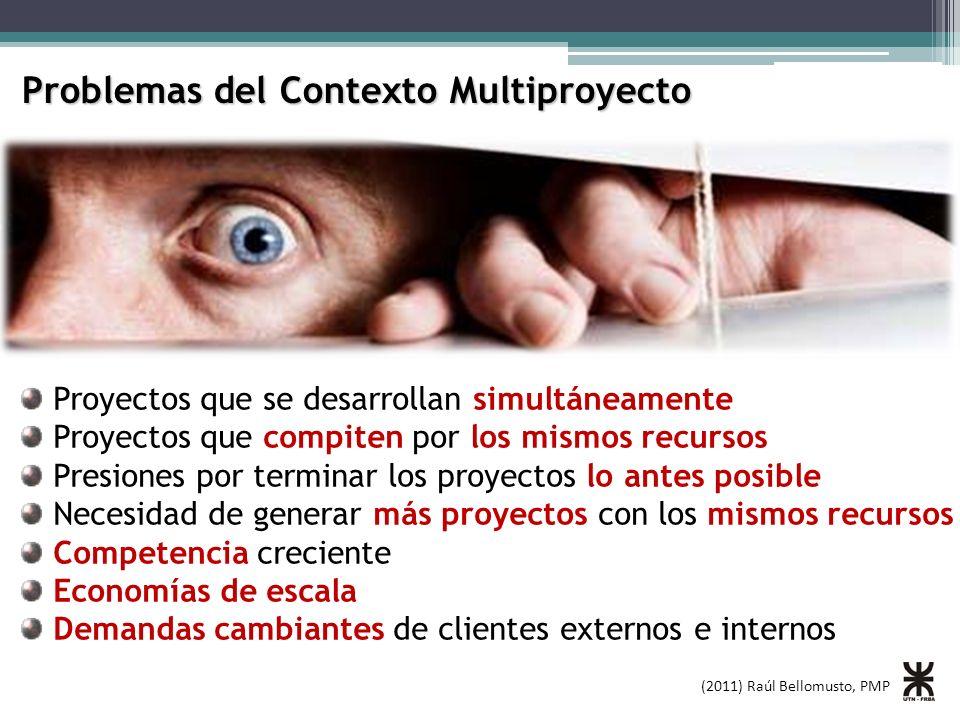 Problemas del Contexto Multiproyecto