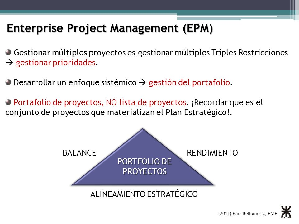 Enterprise Project Management (EPM)
