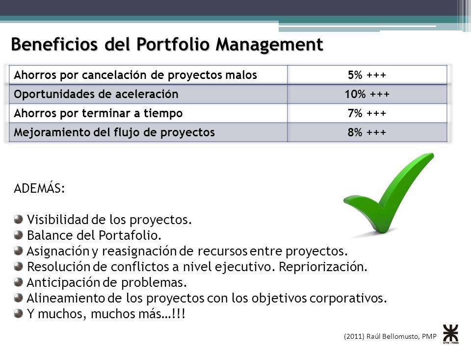 Beneficios del Portfolio Management