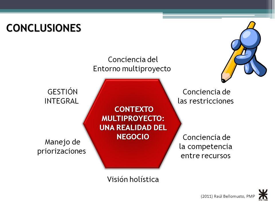 CONCLUSIONES Conciencia del Entorno multiproyecto GESTIÓN INTEGRAL