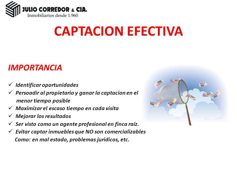 CAPTACION EFECTIVA IMPORTANCIA Identificar oportunidades