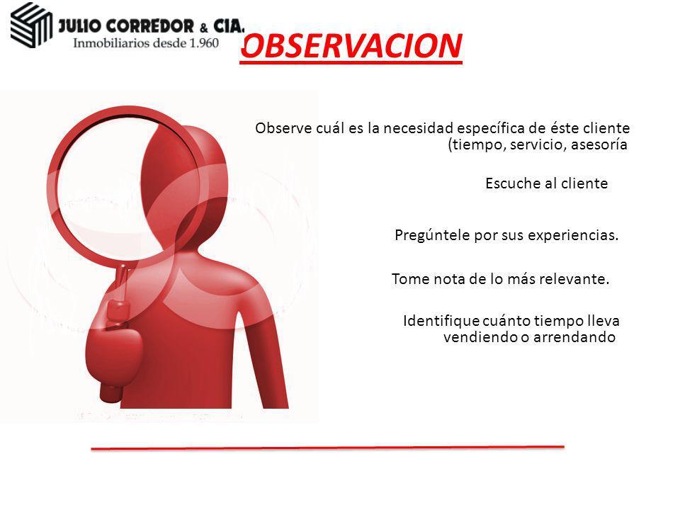 OBSERVACION Observación