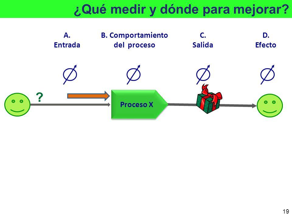 B. Comportamiento del proceso