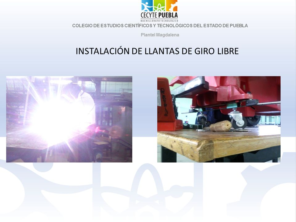 INSTALACIÓN DE LLANTAS DE GIRO LIBRE