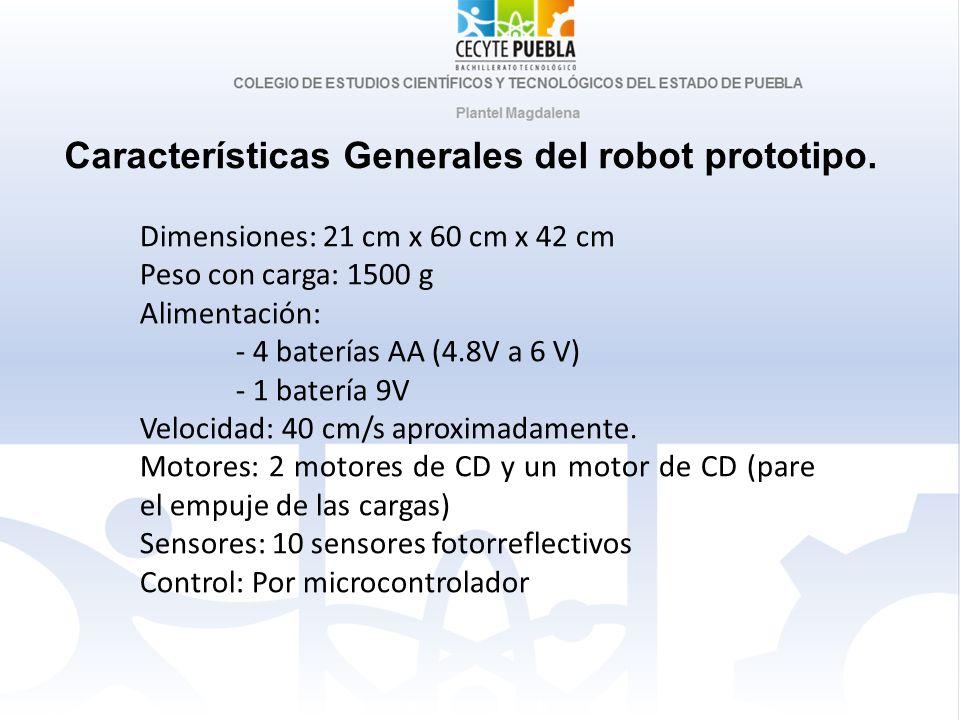 Características Generales del robot prototipo.