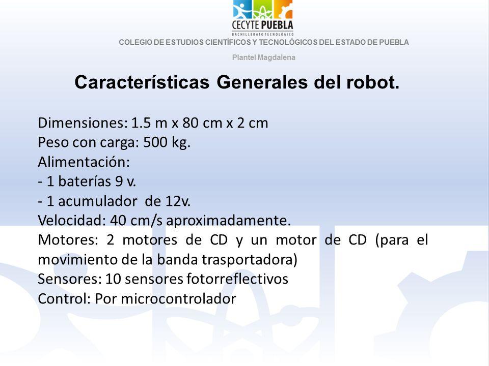 Características Generales del robot.