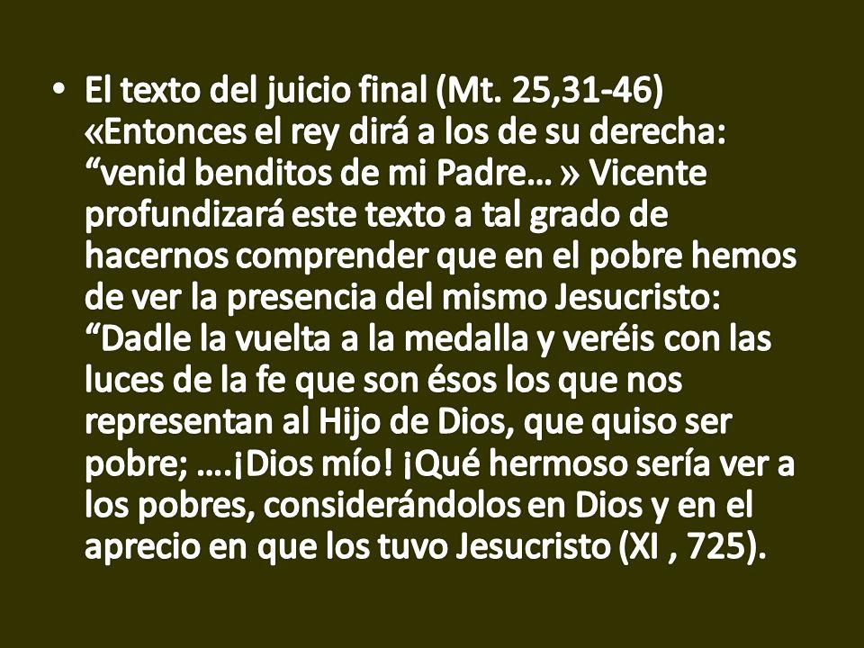El texto del juicio final (Mt