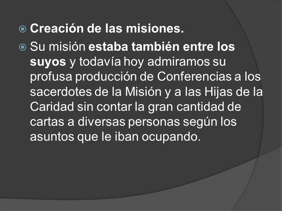 Creación de las misiones.