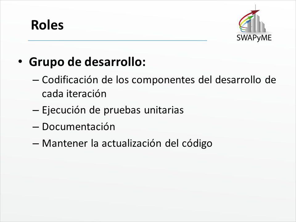 Roles Grupo de desarrollo: