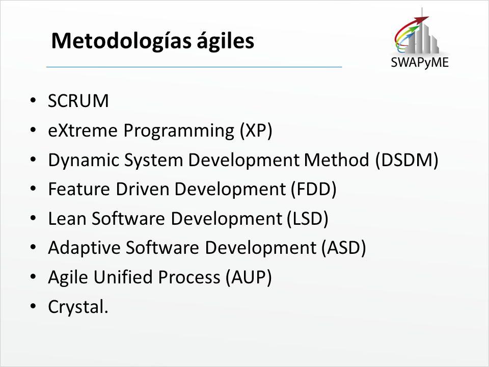 Metodologías ágiles SCRUM eXtreme Programming (XP)